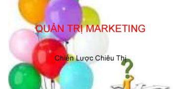 Đặc điểm của quản trị marketing