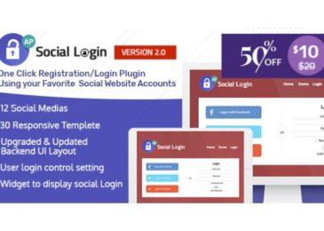 [Share Plugin WordPress] Social Login WordPress Plugin – AccessPress Social Login Pro V2.0.4 Mới Nhất