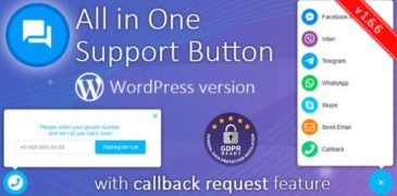 [Share Plugin WordPress] All in One Support Button + Callback Request. WhatsApp, Messenger, Telegram, LiveChat and more… V1.6.9 Mới Nhất