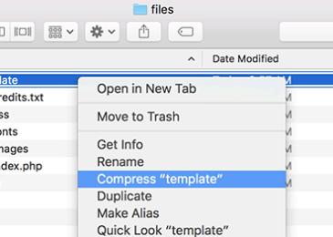 Tạo tệp zip trong Mac