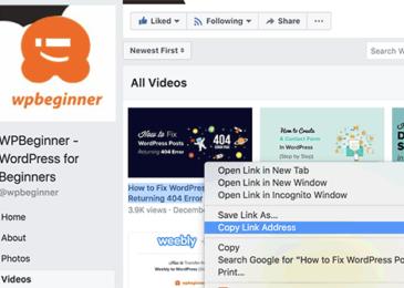 Cách để nhúng một video Facebook trong WordPress