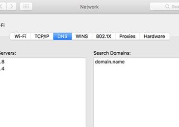 Cài đặt DNS trên máy Mac