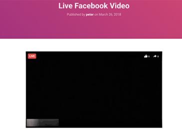 Xem trước video trực tiếp trên Facebook