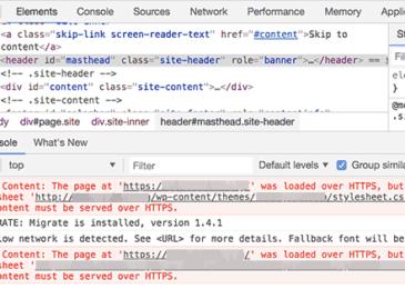 Sử dụng công cụ kiểm tra để xác định lỗi nội dung hỗn hợp