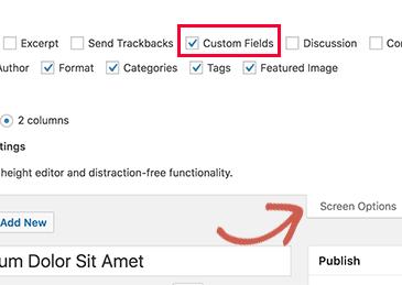 Cách khắc phục Custom Fields không hiển thị trong WordPress