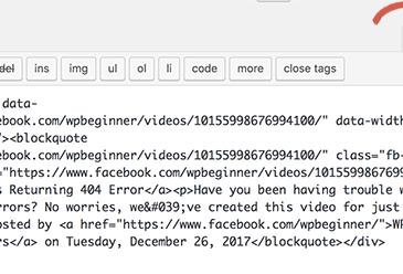 Chuyển sang trình chỉnh sửa văn bản để dán mã nhúng video
