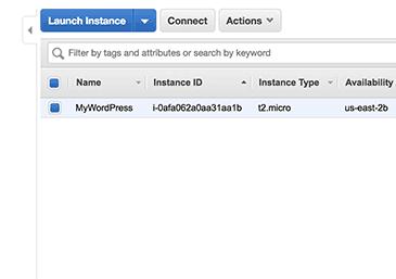 Ví dụ về WordPress đang chạy