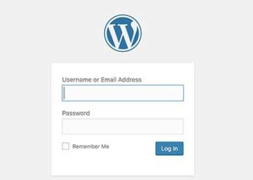 Màn hình đăng nhập WordPress