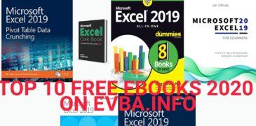 TOP 10 BEST EBOOKS EXCEL 2019 FREE DOWNLOAD ON EVBA.INFO 2020