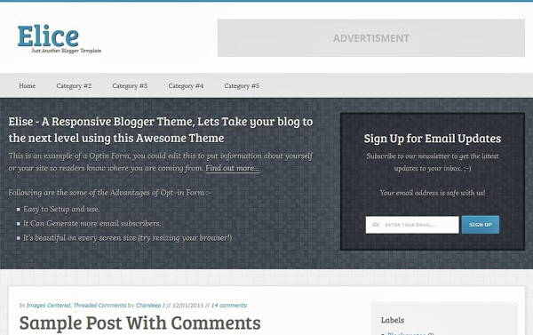 Elice – A Responsive Blogger Template