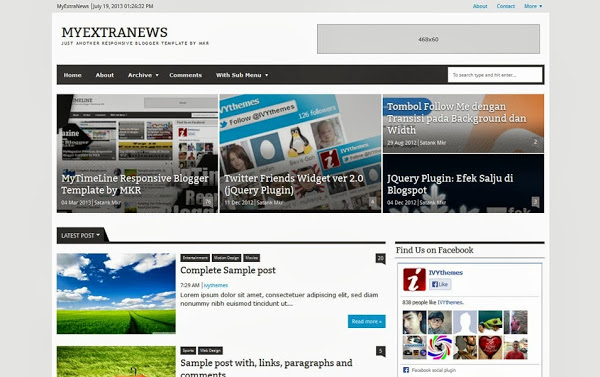 MyExtraNews Blogger Template