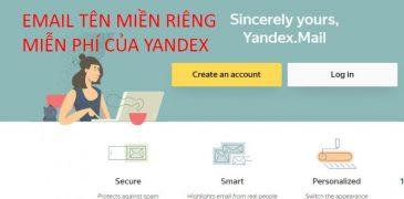 Cách tạo email tên miền riêng miễn phí với Yandex