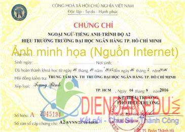 Công văn về việc tổ chức thi đánh giá năng lực tiếng Anh theo Khung năng lực Ngoại ngữ 6 bậc dùng cho Việt Nam cho Trường Đại học Sài Gòn, Trường Đại học Ngân hàng TP Hồ Chí Minh