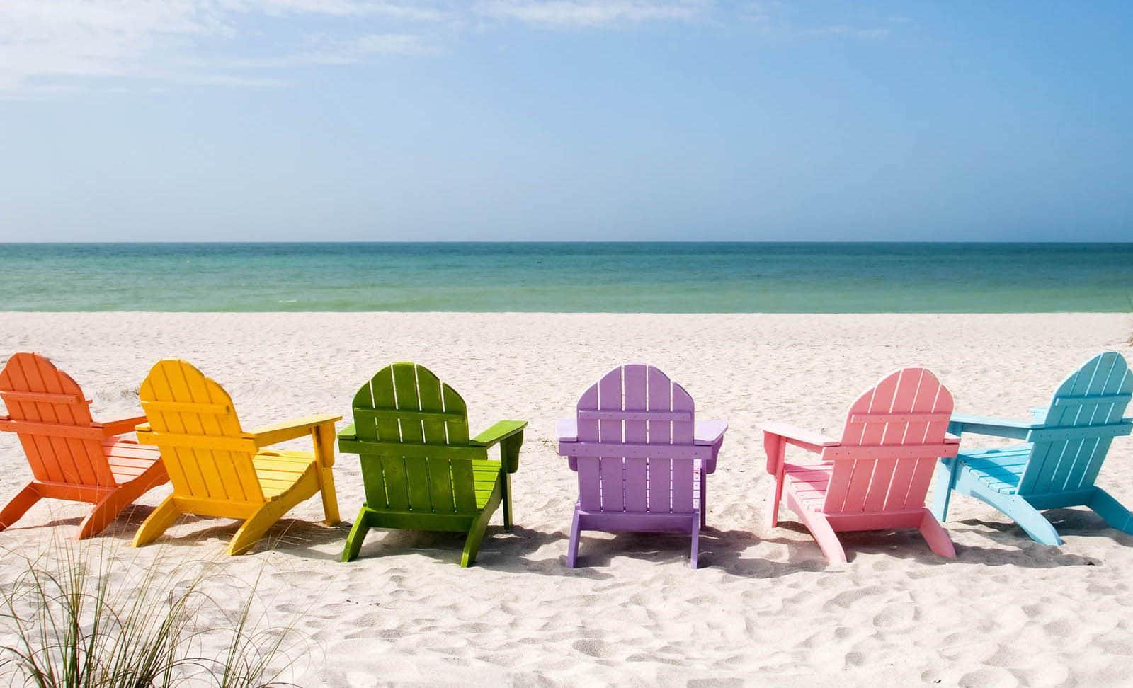 Hình ảnh background bờ biển ghế đẹp