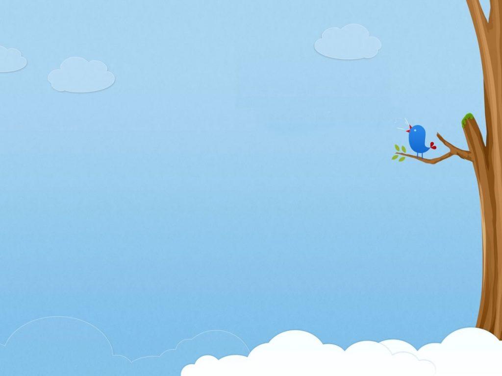 Hình ảnh background nền xanh cây chim đậu