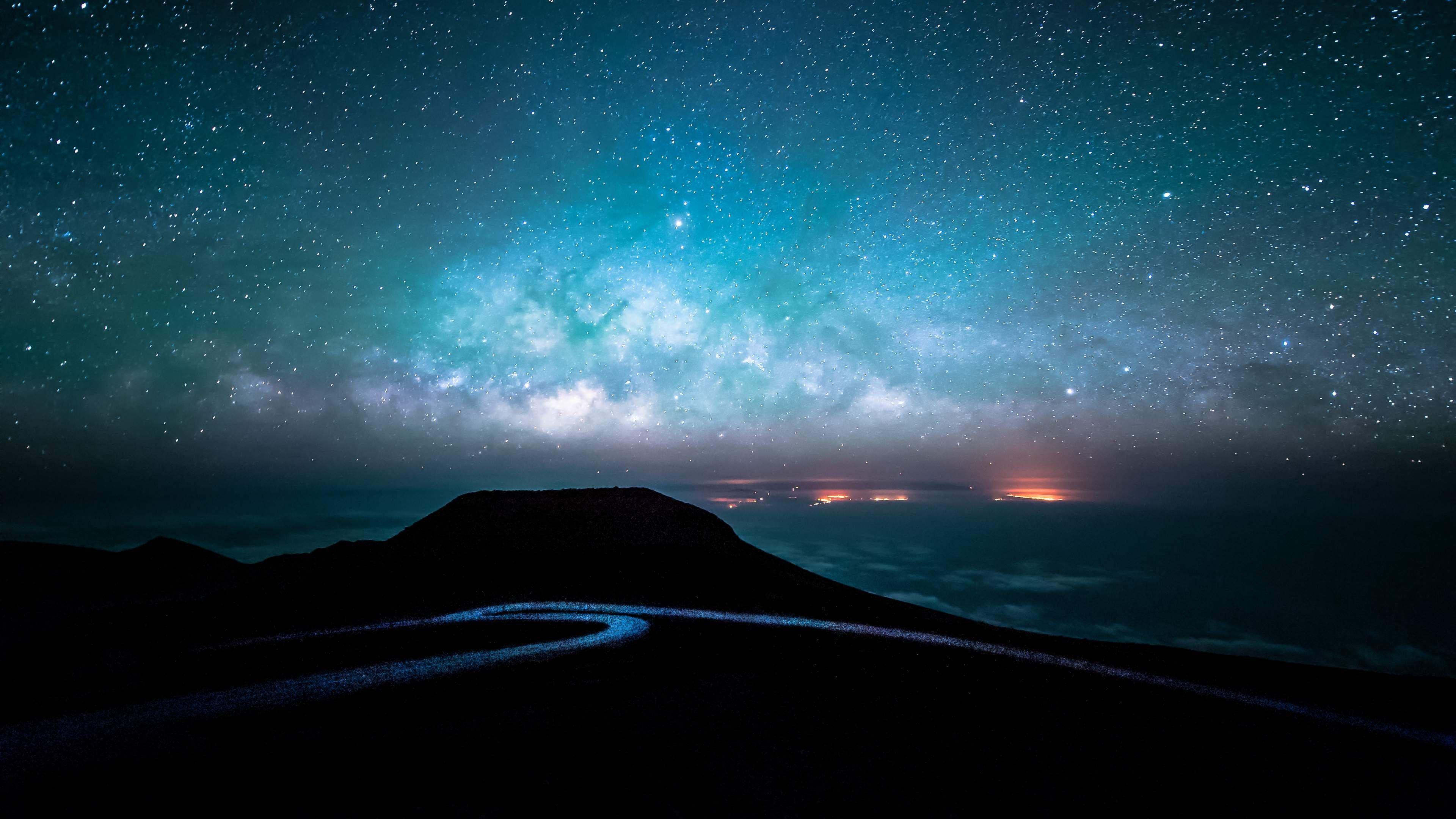 Hình ảnh background trời đêm đầy sao