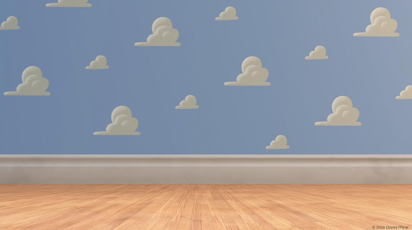 Hình ảnh background tường xanh với đám mây trắng